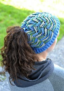 Tidal Wave Hat ~ how cool is this hat! ~ it get even cooler - has drawstring at crown that can be used to let your ponytails flow through ~ perfect for women or men ~ child and adult sizes ~ CROCHET