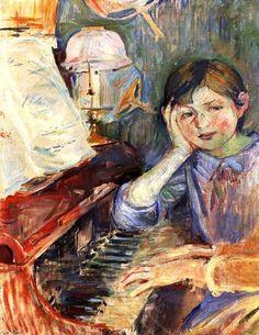 Berthe Morisot  Julie Listening (detail)  Portrait of the Artist's Daughter