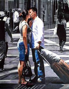 Print $20 Saatchi Online Artist: Rainer Augur; Oil, Painting  Logjam!