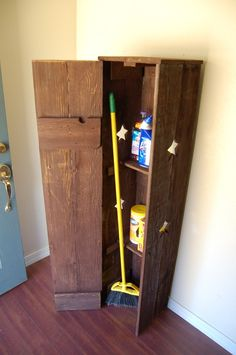 Laundry Room Storage Tall Broom Closet. CHOOSE COLOR Pantry Cabinet. Kitchen PANTRY. Rustic Wood Furniture. Rustic Home Coutnry