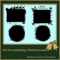 Welkom bij Creative Scrapmom: Fun in Scrapbooking 4 Christmas masks