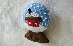 snow globe felt ornament