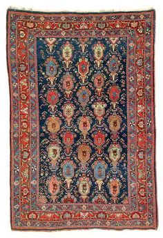 Bijar rug, North West Persia, Kurdistan. 160 x 107 cm. Late 19th century. Rippon Boswell Major Spring Auction 31 May 2014