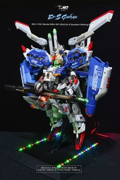 MG 1/100 Ex-S Gundam 'Refit Suit' - Customized Build w/ LEDs Modeled by T-Mo