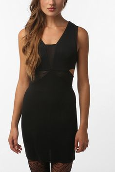 Sparkle and Fade Mesh Trimmed Dress $59.00