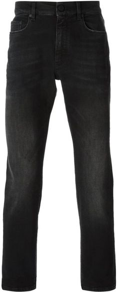 $246, Black Jeans: Z Zegna Straight Leg Jeans. Sold by farfetch.com. Click for more info: https://lookastic.com/men/shop_items/146441/redirect
