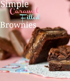 Drooling! Simple Caramel Filled Brownies - Confessions of a Cookbook Queen