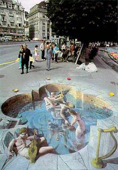 0 diggs digg 0 Street Art is any kind of art performed in public. The term street art or the more specific post-graffiti is u. 3d Street Art, 3d Street Painting, Amazing Street Art, Street Art Graffiti, Street Artists, Amazing Art, Road Painting, Awesome, Graffiti Artists