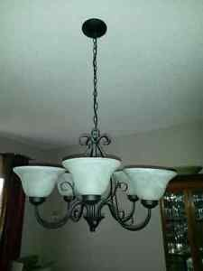 23 inch wide by 23 inch height the chandelier is like new, perfect ...