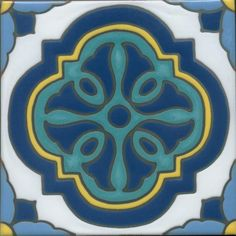 These hand painted, kiln fired 6x6 tiles reproduce the original Catalina tile designs, with their strong Moroccan and Art Deco influences.  They make great accent pieces, and can also be combined into wonderful patterns.