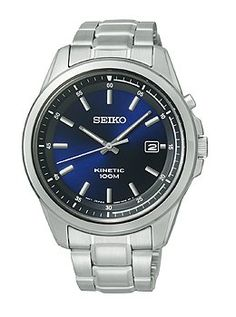 Men watches: Men's watches store Seiko Kinetic Three-Hand Date Stainless Steel Men's watch #SKA675