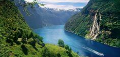 Geirangerfjorden - Take a trip to Norway! Because it's amazing. #Elsa #Vikings