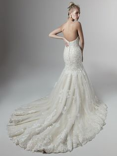 """Meet """"Koda"""" a new arrival to our Sottero & Midgley collection. With delicate beaded motifs appliqued over a layer of shimmering sequined tulle adorn this fit-and-flare wedding dress with sweetheart neckline. Maybe this is your dream dress? Wedding Dress Boutiques, Designer Wedding Dresses, Bridal Dresses, Wedding Gowns, Sottero And Midgley Wedding Dresses, Sottero Midgley, Classic Wedding Dress, Long Sleeve Wedding, Boutique Dresses"""