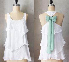 AURA SAGE  blusa romántica nivel flowy blanco / por FleetCollection, $42.00
