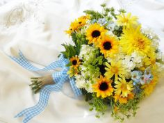Country Wedding  Bouquet  Silk blossoms in Sunny by ArtHouseBridal, $145.00
