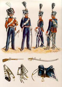 Les planches uniformologiques de Robert Aubry