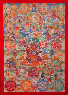 Peaceful and wrathful deities of the bardo.