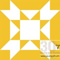Sew a batch of these Owl Quilt Blocks together to form a grid-like pattern checkered with white diamonds and gold rectangles.