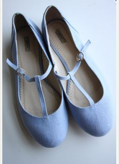 Mary-Janes plates bleues pastel