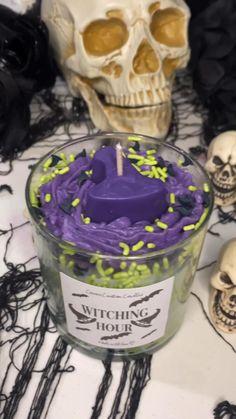 Halloween Candles, Diy Halloween Decorations, Halloween Crafts, Wine Candles, Scented Candles, Birthday Candles, Birthday Gifts, Birthday Cake, Alcohol Drink Recipes