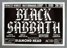 Black Sabbath Ian Gillan - Mega Rare Original Brussels 1983 Concert Poster from $100.0