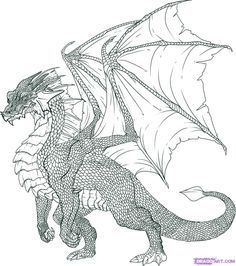 How to Draw a Dragon Step by Step, Step by Step, Dragons, Draw a Dragon, Fantasy, FREE Online Drawing Tutorial, Added by Dawn, June 7, 2009,...