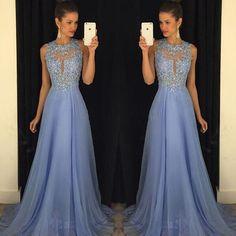 Las chispas de lujo con cuentas de cristal azul de la dama de noche del desfile de vestidos de baile vestido de vestidos de baile