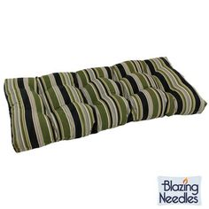 Tufted Outdoor Loveseat/Bench Cushion | Overstock.com Shopping - Big Discounts on Blazing Needles Outdoor Cushions & Pillows