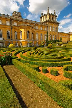 Blenheim Palace, Oxfordshire,  Birthplace of Sir Winston Churchill. (But only by accident! His mother was married to the younger son, not the Duke, & went into labor while at a dance there.)