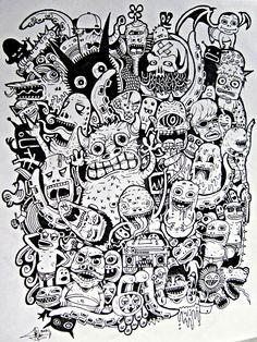 doodle monster wallpaper - Buscar con Google