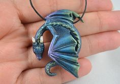 Dragon Jewelry That'll Make You Feel Like The Mother Of Dragons Wo sind meine Drachen? Dragon Necklace, Dragon Jewelry, Clay Jewelry, Jewelry Art, Jewlery, Resin Jewellery, Polymer Clay Dragon, Dragon Eye, Mother Of Dragons