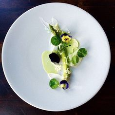 Smoked English asparagus by @inkrestaurant #TheArtOfPlating P.S. It's our 2nd Birthday today!