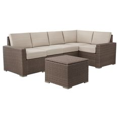 Threshold� Heatherstone Wicker 6-Piece Patio Sectional Seating Furniture Set at Target-comes in 7 colors