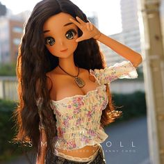 Smart Doll Outerwear Tie Front Shirt