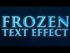 creating a text effect that's similar to the Frozen text, that's on the poster for Disney's new movie, Frozen. We won't be recreating the fo...