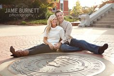 engagement photo idea - wonder if this could work at Baylor University...