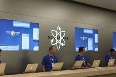 Genius bar revolutionised the service concept. One-to-one interaction supported with digital tools.