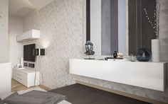 The simplicity of a studio apartment is beautiful in and of itself. Whether an artist's bed is hidden away behind a curtain or a modern, urban couple isn't afra