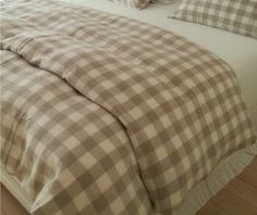 New to CustomLinensHandmade on Etsy: Plaid Duvet Cover Set in natural linen and white checked duvet cover in Twin Queen King size linen bedding (177.00 USD)