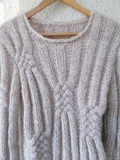 Кофты и свитера ручной работы. Ярмарка Мастеров - ручная работа. Купить Вязаный свитер Светло-бежевый меланж. Handmade. Бежевый