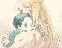 Baby Loki & Thor | aww, Thor being a good big brother to de-aged Loki <3