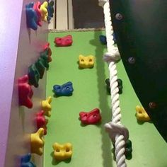Indoor rock climbing wall - a more fun way to get to the second floor than the stairs!