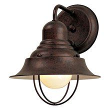 Lights for each post. 71167 Rustic / Country 1 Light Outdoor Wall Sconce from the Wyndmere Collection at LightingDirect.com.