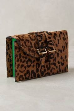 Meli Melo Cheetah Box Clutch - anthropologie.com I REALLY NEED THIS