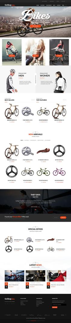 GoShop is an advanced #Drupal Theme fully customizable and suitable for eCommerce websites. #bike #cycle #shop Download Now!