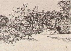 Public Garden with Benches. 1888. Vincent van Gogh: The Drawings