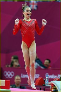 From Kythoni's McKayla Maroney and Gymnastics: Olympics boards. Gymnast McKayla celebrates after her near perfect vault during the Women's Gymnastics Team Final at the London Olympic Games Elite Gymnastics, Gymnastics Pictures, Artistic Gymnastics, Olympic Gymnastics, Olympic Sports, Gymnastics Girls, Gymnastics Leotards, Gymnastics Posters, Gymnastics Videos