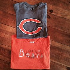 Chicago Bears NFL Team Apparel Bundle Chicago Bears NFL Team Apparel Bundle women's short sleeve tees. Gently worn, no damage. NFL Team Apparel Tops Tees - Short Sleeve