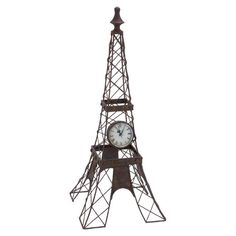 Keep this flea market-chic floor clock on Paris time for a worldly touch in the office or living room.  Product: Floor clock