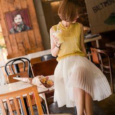 Japanese Fashion, Korean Fashion, Dress Skirt, Lace Skirt, Asian Style, Fashion Outfits, Womens Fashion, Cool Style, Pleated Skirts